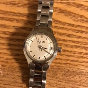 Silver mini Fossil women's watch